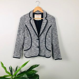 Anthropologie Cartonnier grey black blazer
